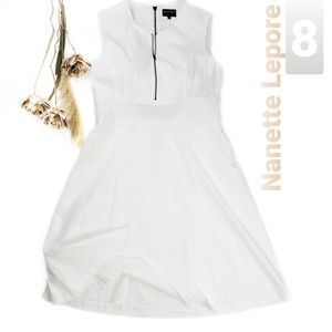 Nanette Lepore White Lace Embroidered Dress 8